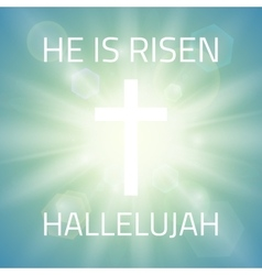 He is risen hallelujah vector