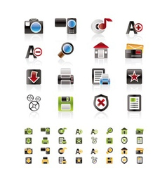 internet and website icon set vector image vector image