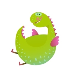 Kids dragon flying fun cute cartoon vector