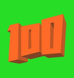 Number 100 vector
