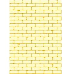 Pale brick wall vector