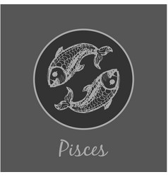 Pisces astrological zodiac symbol horoscope sign vector