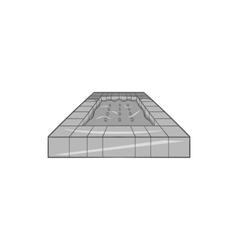 Pool icon black monochrome style vector