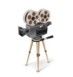 Retro cinema camera vector