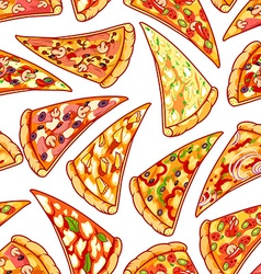 Seamless pattern with pizza clip art vector image