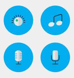Set of simple icons elements regulator music sign vector