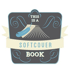 Softcover book vector