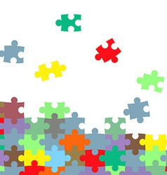 texture of the puzzle vector image