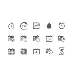 Time and Calendar Icons vector image vector image