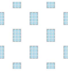 White latticed rectangle window pattern flat vector