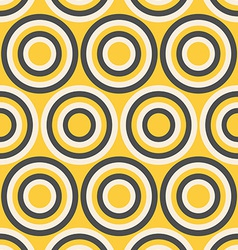 Yellow and gray retro circles vector image vector image