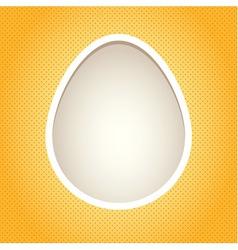 Yellow egg frame vector image vector image