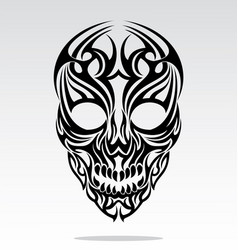 Tribal skulls tattoo design vector