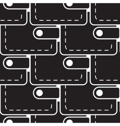 Pouch wallet icon seamless pattern vector