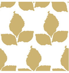 Decorative seamless pattern with leaf vector