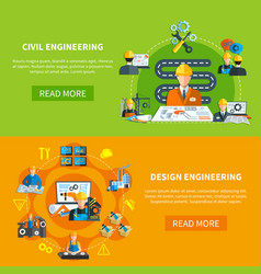 Structural design work banners vector