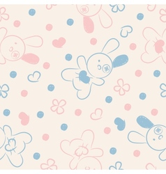 Seamless background with toys and hearts vector