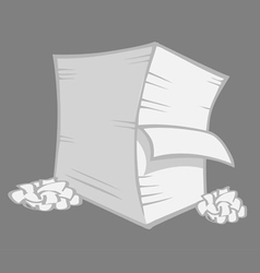 Paper stack crumbled vector