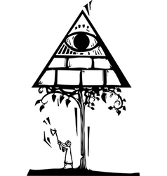Masonic tree vector