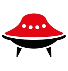 Alien spaceship flat icon vector
