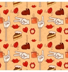 Hipster pattern for cafe vector