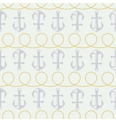 anchor pattern and twisted rope vector image