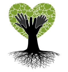Family tree-hand vector