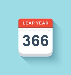 Calendar style flat leap year 366 days calendars vector