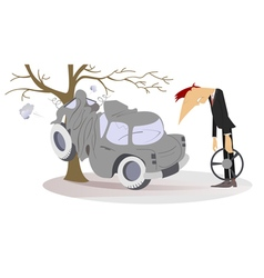 Road accident vector
