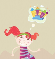 Childrens dream vector
