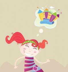 childrens dream vector image