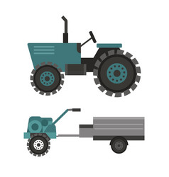Agriculture industrial farm equipment machinery vector