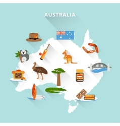 Australia tourist map vector image