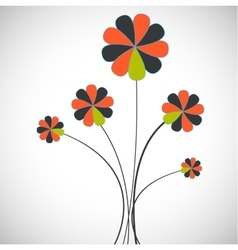 card with flower vector image