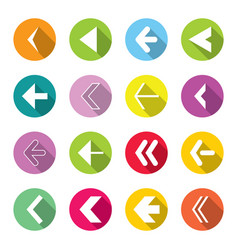 colorful arrow icons set vector image vector image