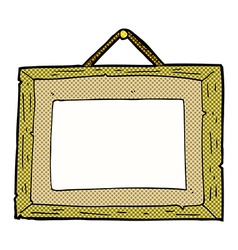 Comic cartoon picture frame vector