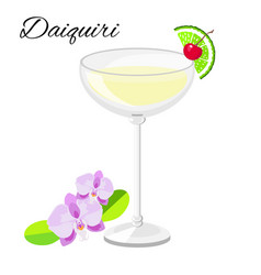 daiquiri cocktail isolated on white vector image vector image