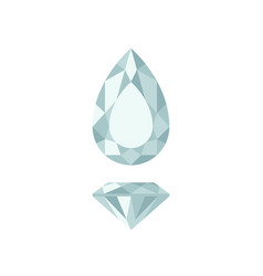 diamond pear shape vector image