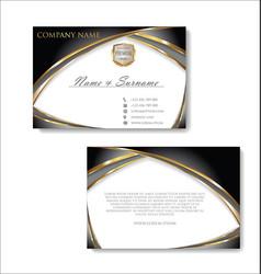 Elegant business card design template 03 vector