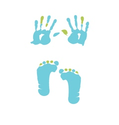 footprint and handprint vector image