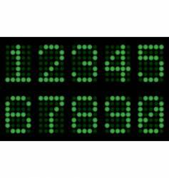 green digits for matrix display vector image