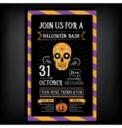 Halloween party invitation Holiday card vector image