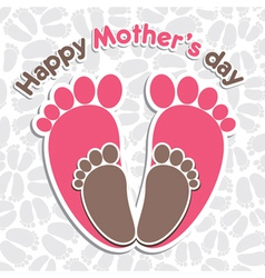 happy mother s day greeting background vector image vector image