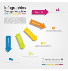 Infographic report template with place for your vector image vector image