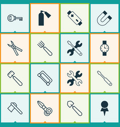 instrument icons set collection of password vector image vector image