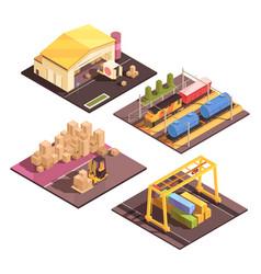 Logistic sort facilities set vector