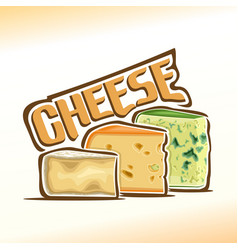 logo of cheese vector image vector image