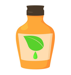 Medicine syrup bottle icon cartoon style vector
