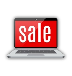 notebook laptop sale vector image