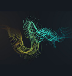 Particle shaking colorful wave vector